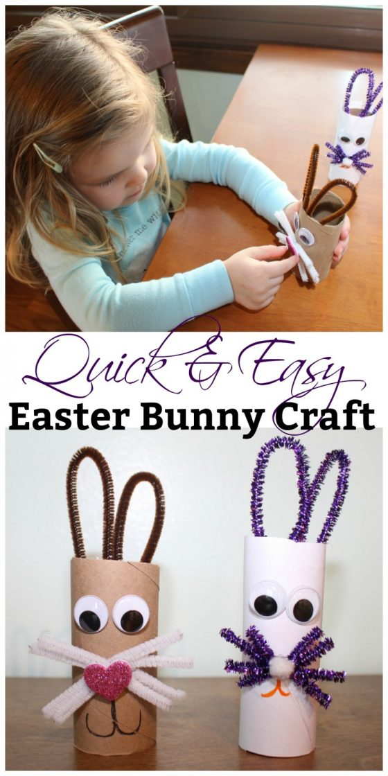 Quick & Easy Easter Bunny Craft For Kids!