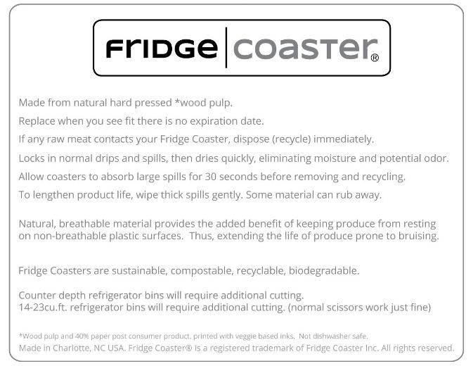 Fridge Coaster - Never Scrub Your Refrigerator Again!