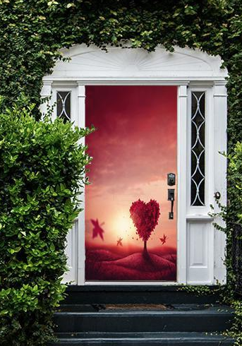 Doorfoto Reusable Fabric Door Cover