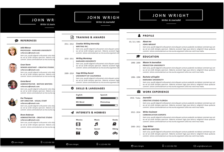 Ways To Improve Your Resume Modern Resume Templates For