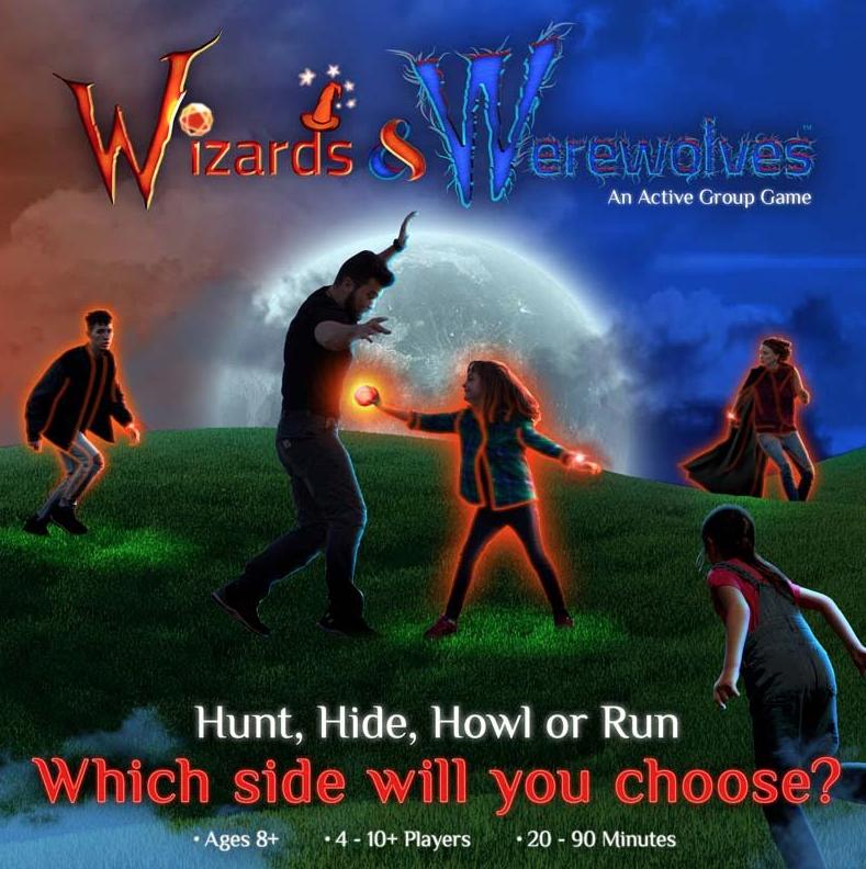 Wizards & Werewolves - A Glowing Backyard Group Battle Game