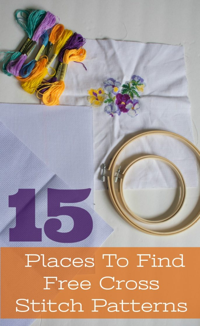 15 places to find free cross stitch patterns