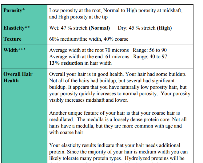 My mane bio hair analysis review