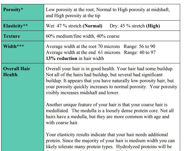 My mane bio hair analysis review