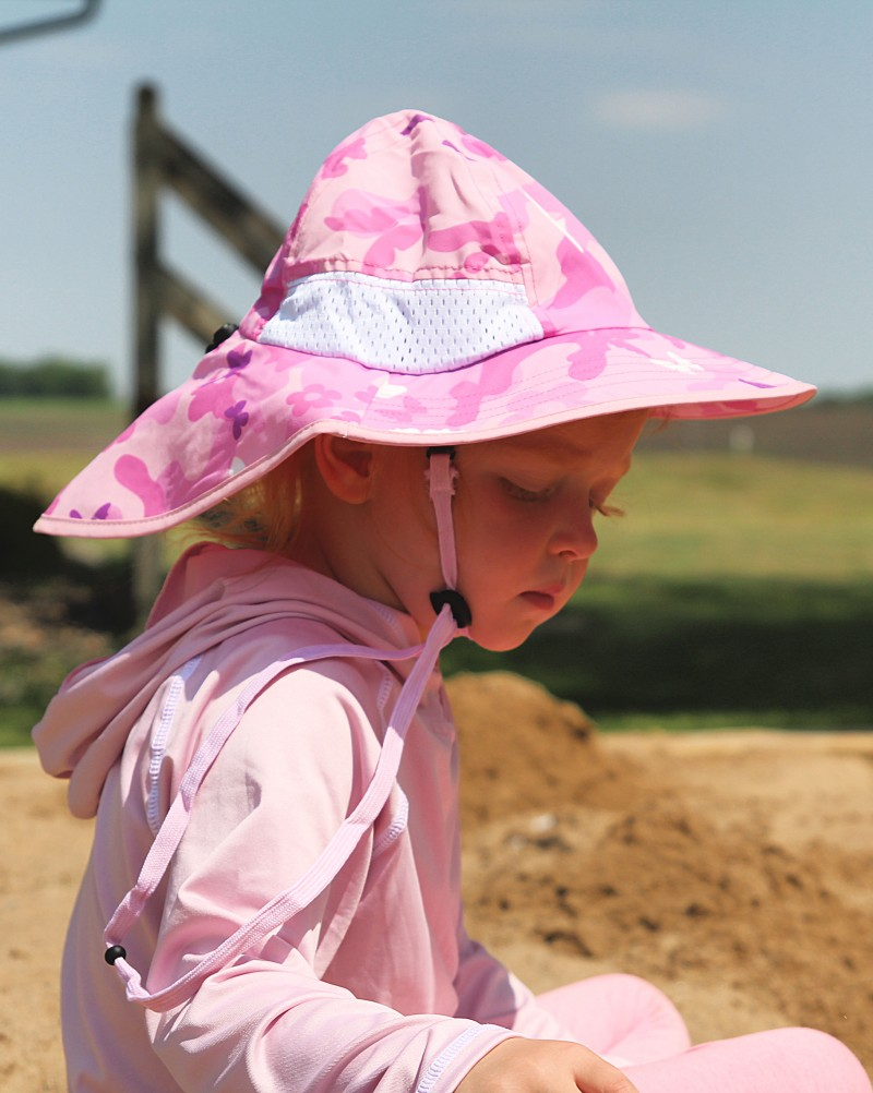 fabe48dd Faces, ears, and necks are easily and efficiently protected with the help  of a Veyo Kids Noggins Sun Hat. And since our son recently took a topple  off his ...