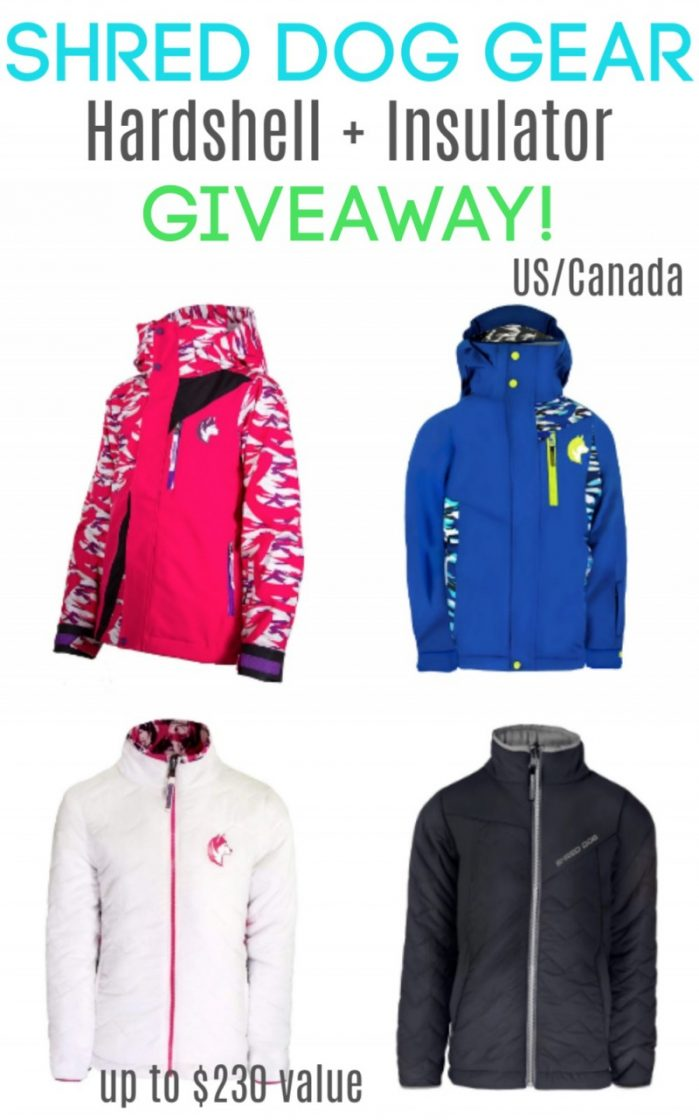 Shred Dog Gear giveaway - Open to the US/Canada. Up to $230 value!