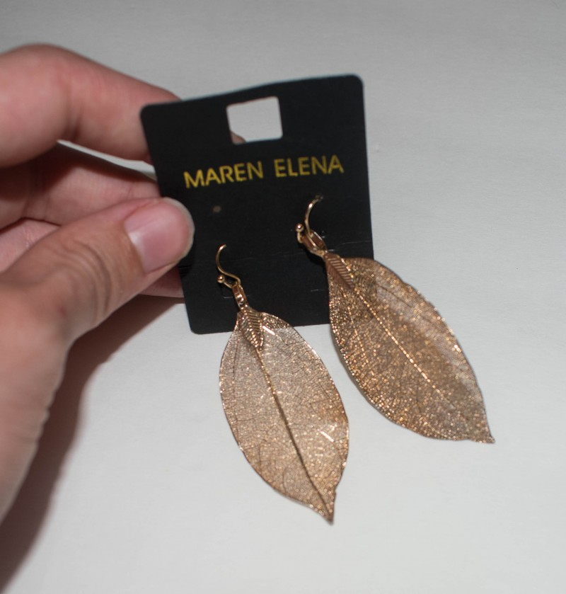 Leaf earrings nadine west
