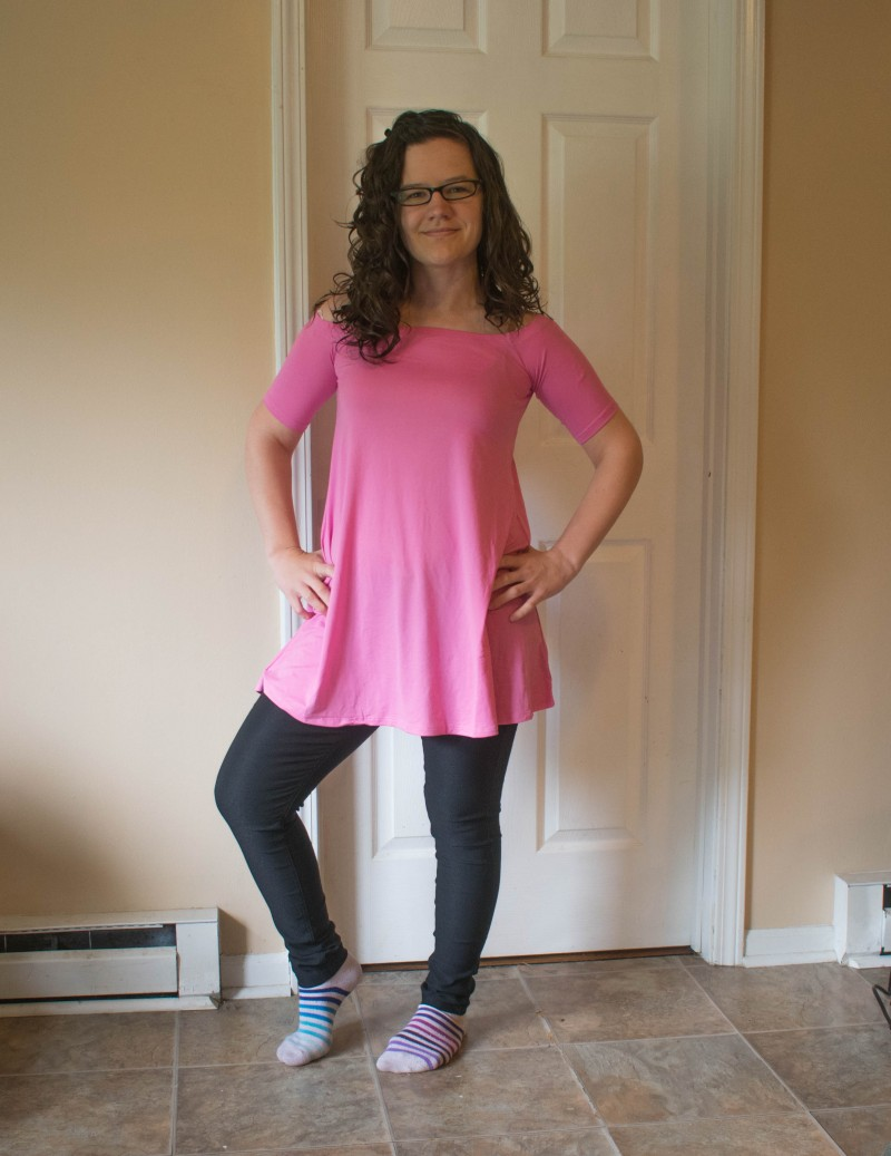 Nadine West pink dress