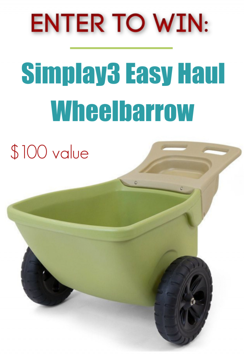 Simplay3 Easy Haul Wheelbarrow Giveaway