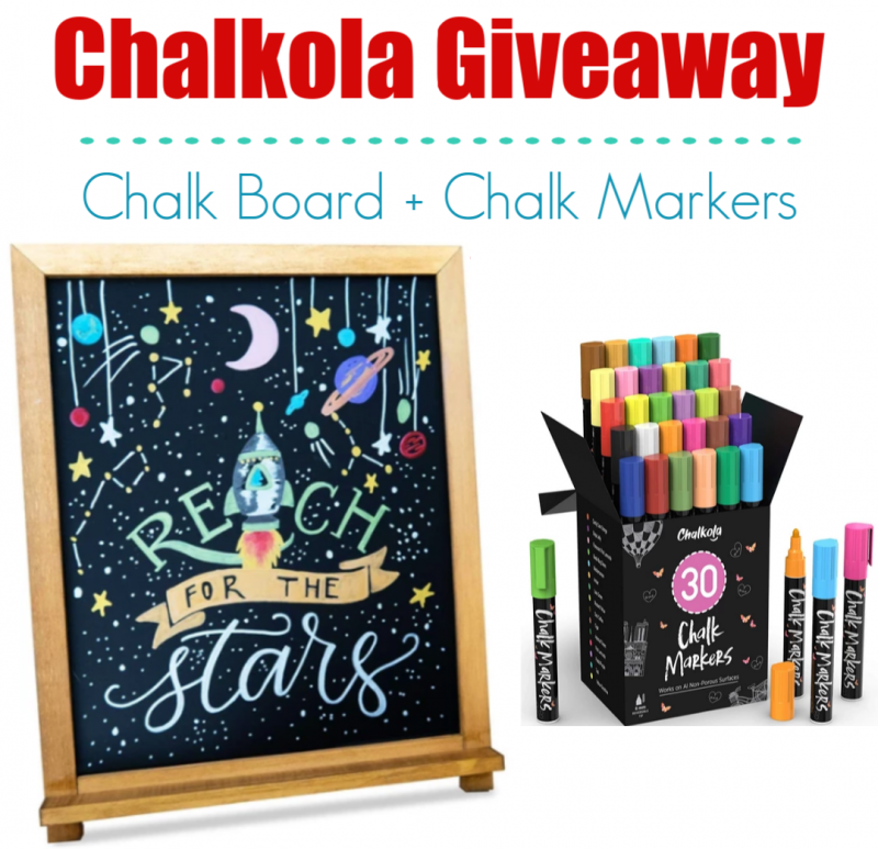 Chalkola Chalkboard & Markers Review, Discount, & Giveaway