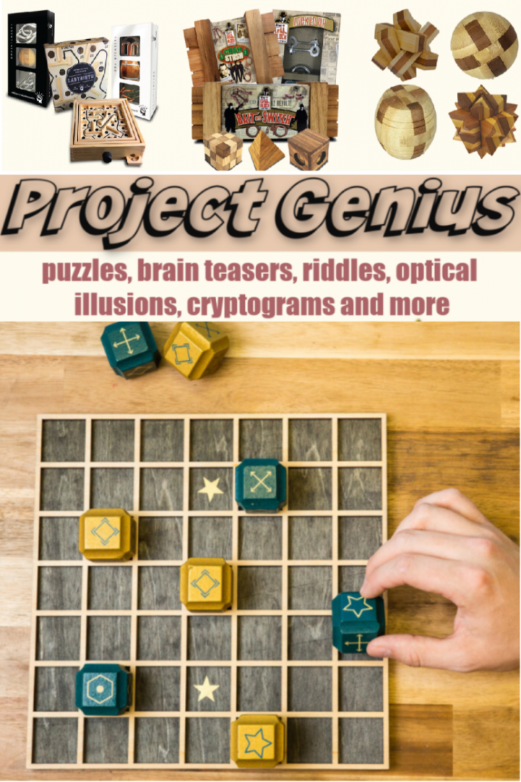 Project Genius - Discover your inner-genius with our daily offerings of puzzles, brain teasers, riddles, optical illusions, cryptograms and more! 1