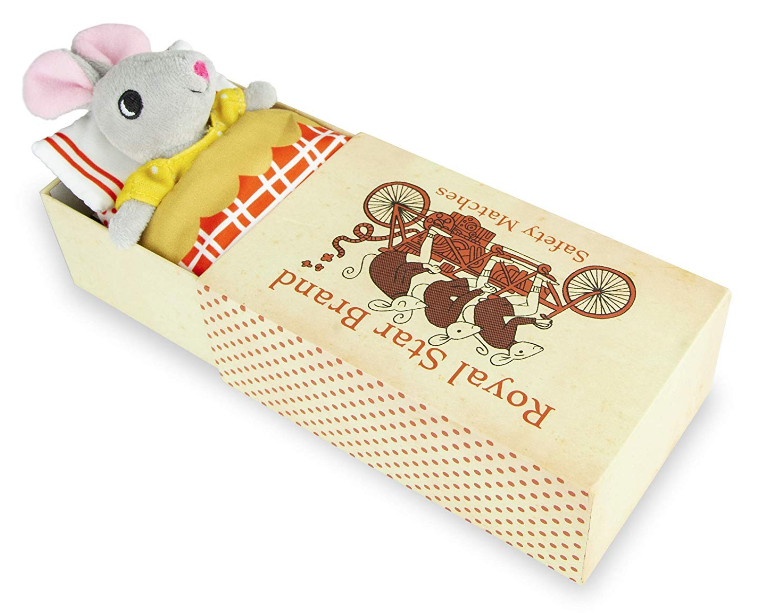 Foothill Toy Co. Matchbox Mouse - Playset with Plush Toy Mouse in a Box, Remy