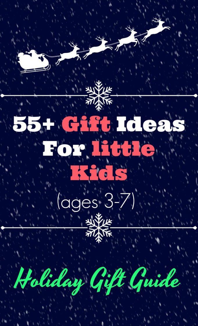 Little kids gift guide - gift ideas for kids ages 3-7. #3yearoldgifts #4yearoldgifts #5yearoldgifts #6yearoldgifts #7yearoldgifts #giftguide #giftideas #holidaygiftguide #nephewgifts #niecegifts