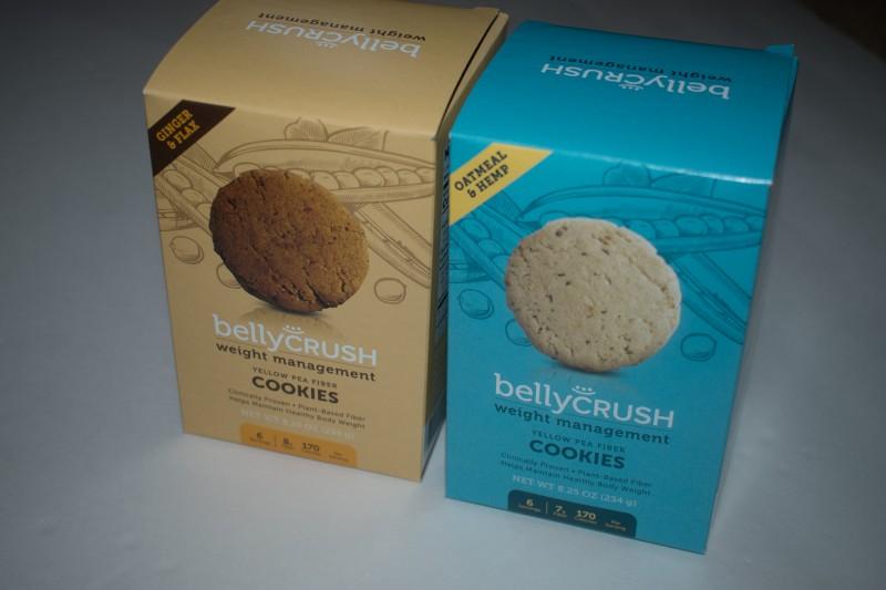 BellyCrush yellow pea fiber weight management cookies