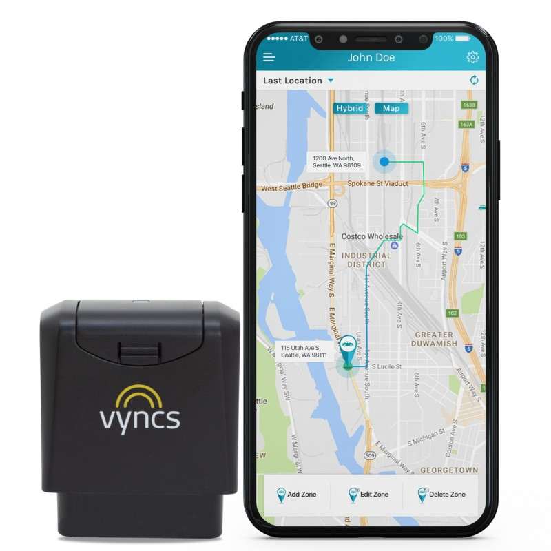 Vyncs app GPS vehicle tracker