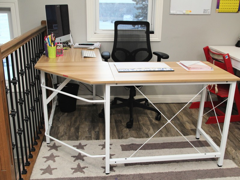 "Mr IRONSTONE L-Shaped Desk 59"" Computer Corner Desk, Home Gaming Desk, Office Writing Workstation, Space-Saving, Easy to Assemble"
