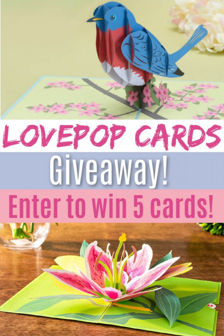 Say It With A Pop! Stock Up On Lovepop Cards Now To Help You Celebrate All Year Giveaway