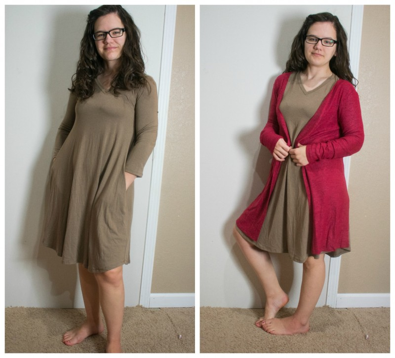 Nadine West Dress and Cardigan outfit