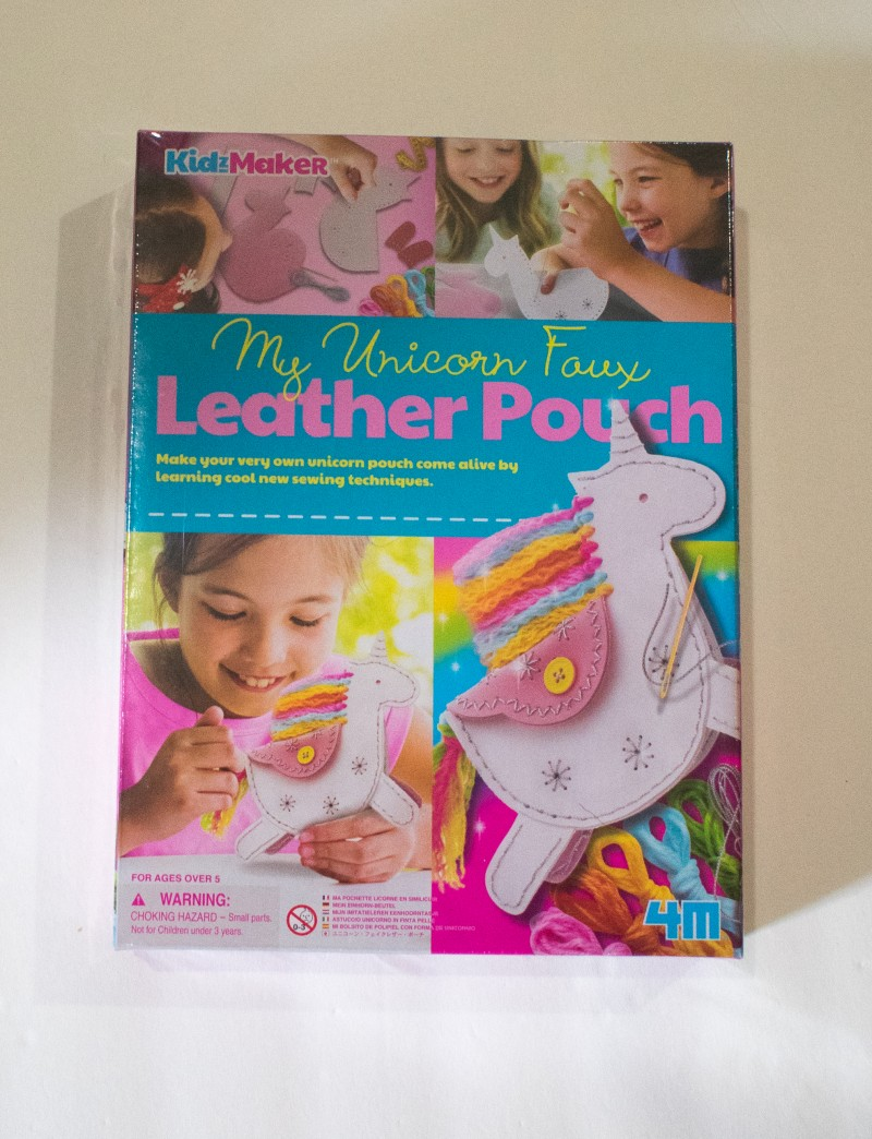 4m make your own unicorn pouch leatherwork craft kit for kids