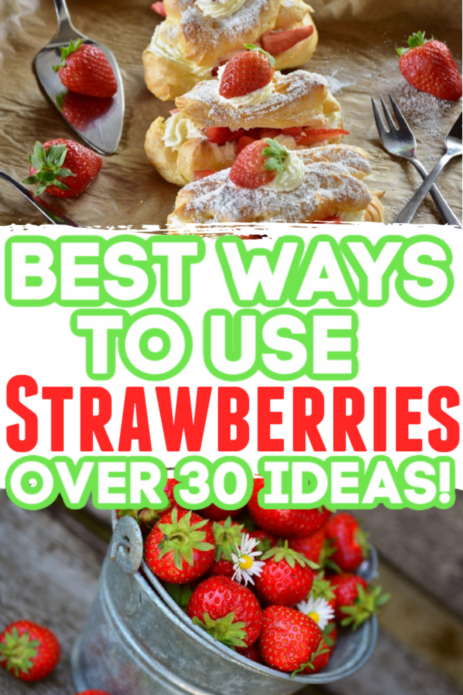 Heading To The Strawberry Patch_ Here's 20+ Ideas For What To Make With Them!