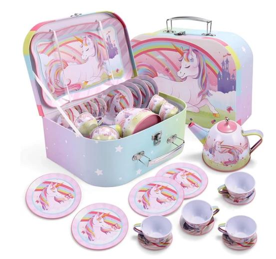 Unicorn Castle Teapot Set