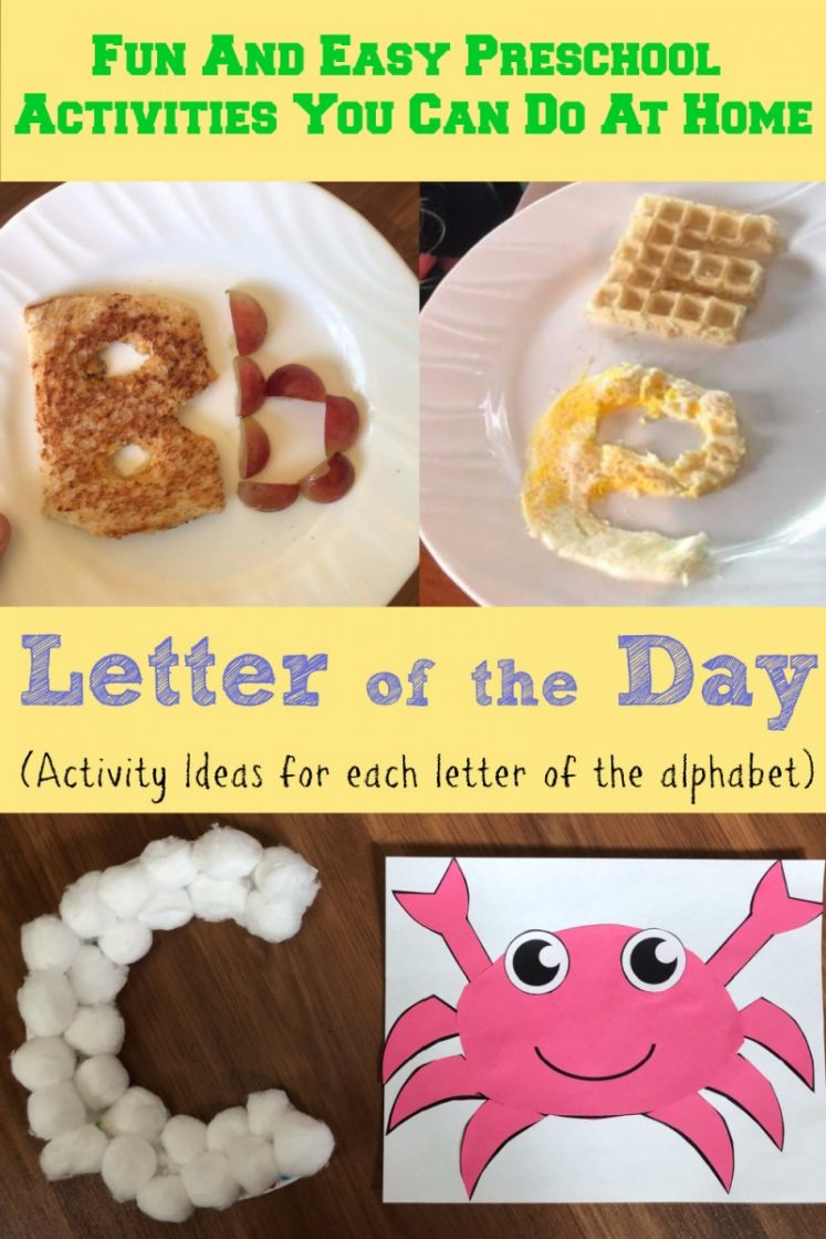 Letter Of The Day   Fun Preschool Alphabet Activities You Can Do ...