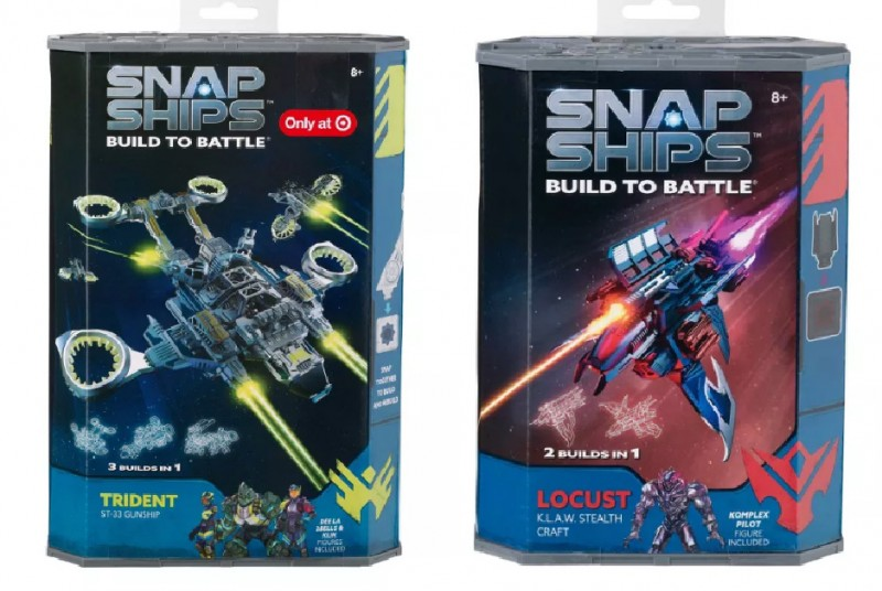 Snap Ships Trident ST-33 Gunship Exclusive Vehicle & Locust