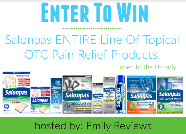 Salonpas Line Of Topical OTC Pain Relief Products Giveaway