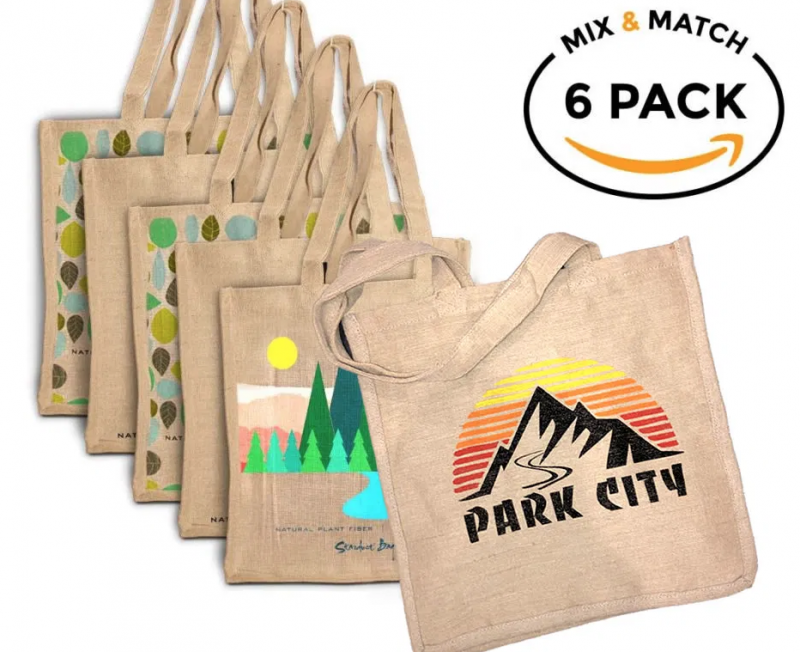 6-Pack with Stardust Sustainables' 100% Compostable & Reusable Shopping Bag.