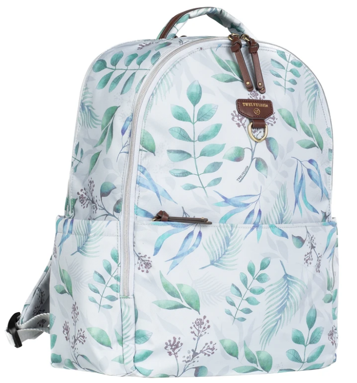TWELVElittle On-The-Go Backpack Diaper Bag In Leaf Print 2.0