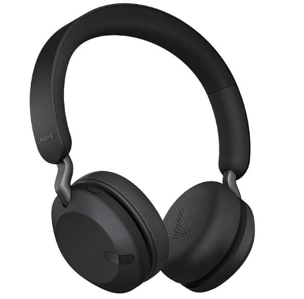 Jabra Elite 45h, Titanium Black – On-Ear Wireless Headphones