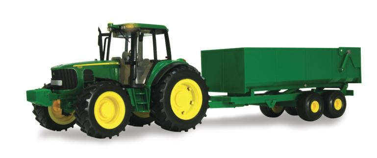 TOMY 1:16 Scale John Deere 6930 Big Farm Tractor w/Wagon