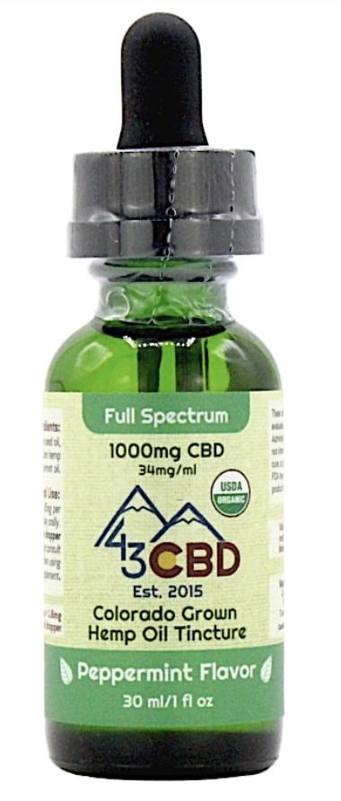 43 CBD Organic CBD Oil Tincture