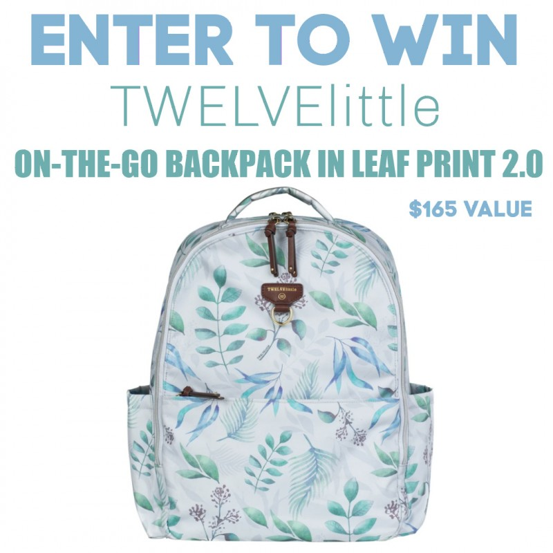 TWELVElittle On-The-Go Backpack Diaper Bag In Leaf Print 2.0 + Giveaway!