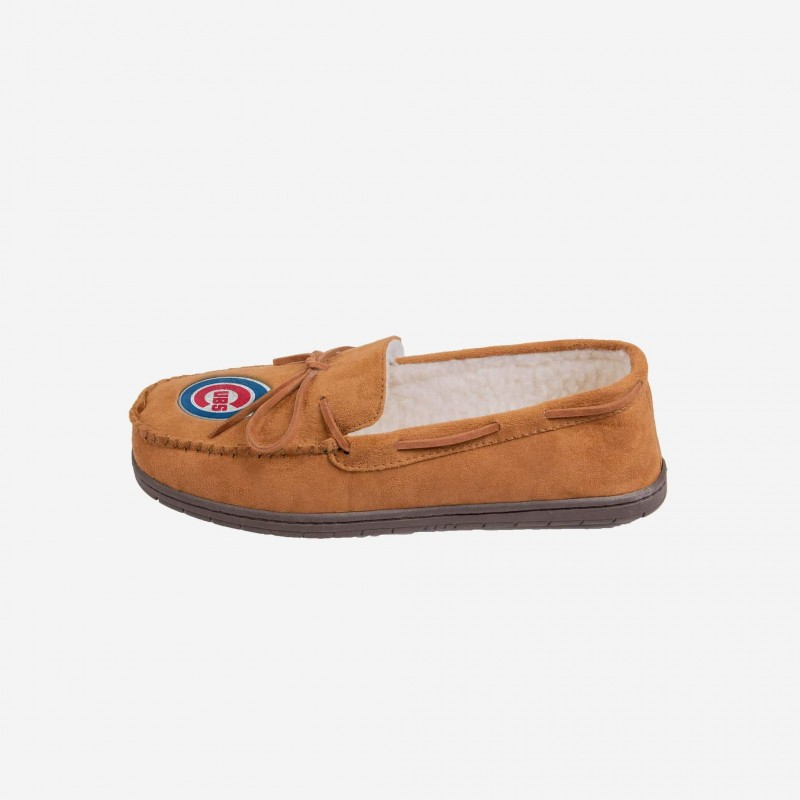Chicago Cubs Moccasin Slippers