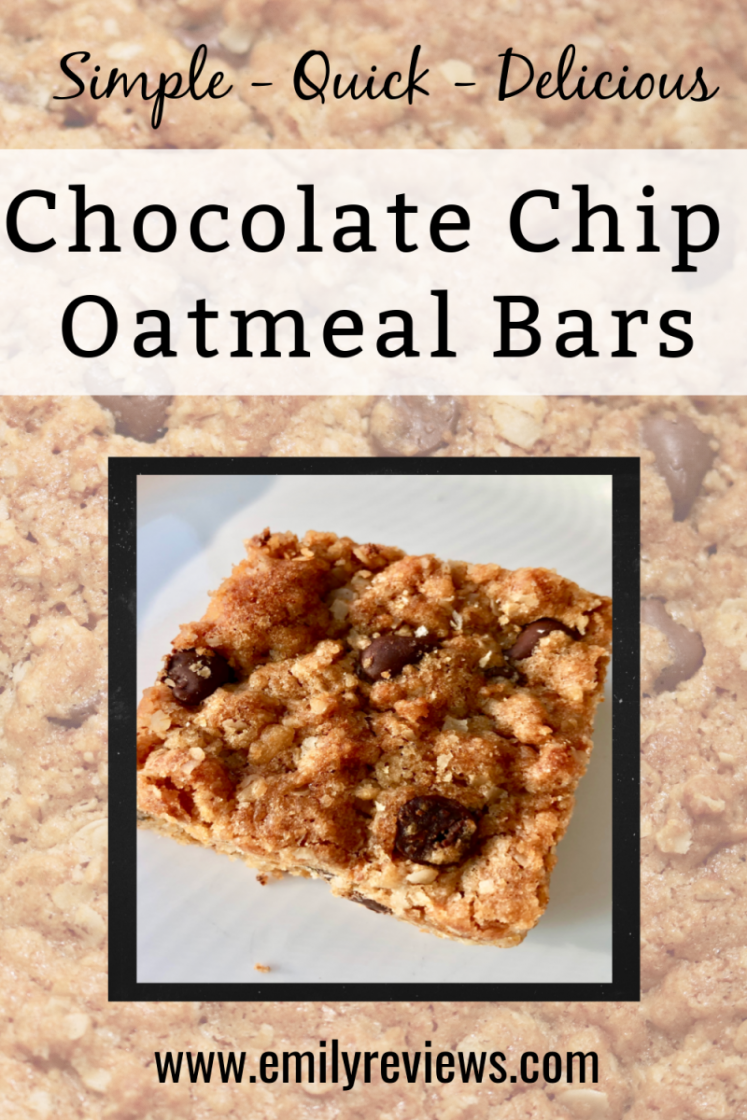 Oatmeal Chocolate Chip Bar Recipe