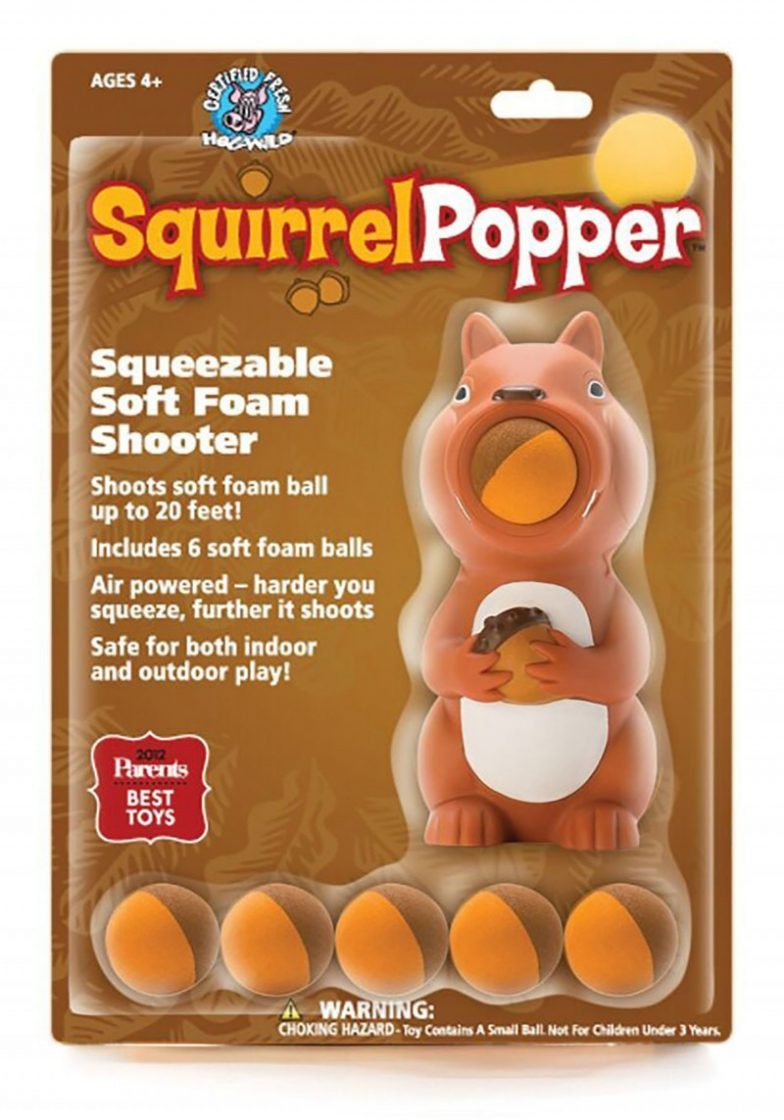 Squirrel Popper, Indoor Toys, Ball Launcher