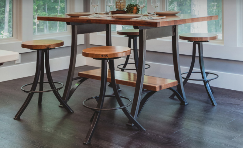 John Boos Foundry Collection Table & Stools