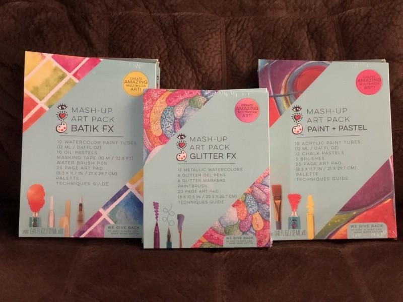 Bright Stripes iHeart Art Kits