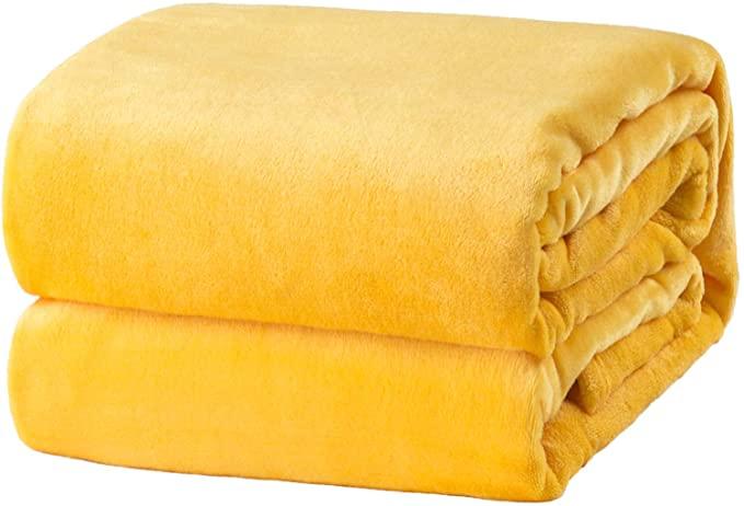 Bedsure fleece flannel throw blanket