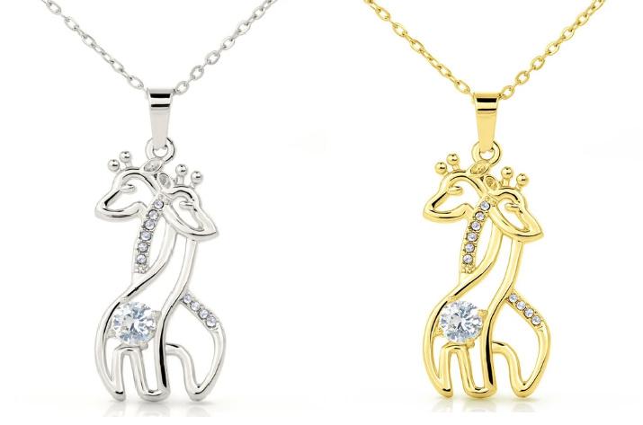 Tiny Truths Jewelry - Graceful Love Giraffe Necklace (Beautiful Gift Idea!)