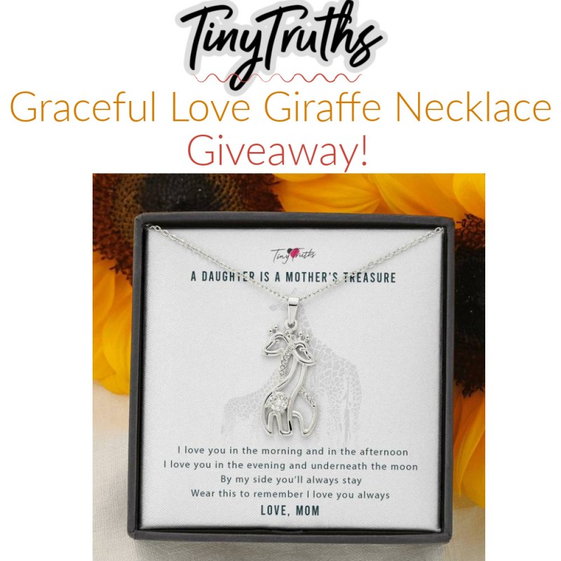 TinyTruths Jewelry - Graceful Love Giraffe Necklace GIVEAWAY!