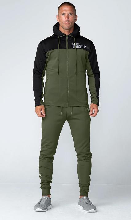 Born Tough Momentum Track Suit Jogger Pants Military Green