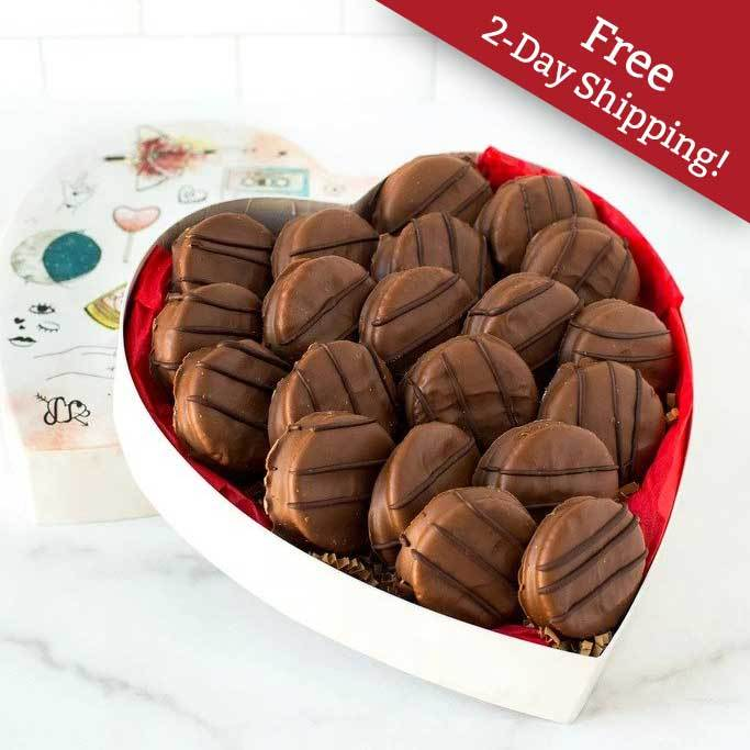 Valentine's Day Milk Chocolate-Covered Peanut Butter Cracker Cookies