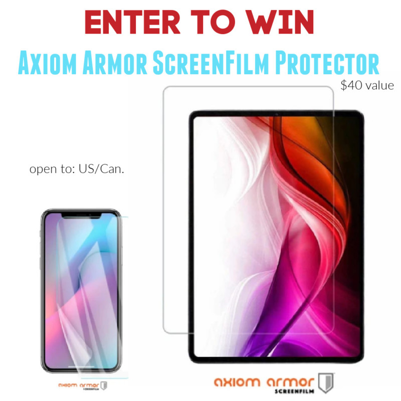 Axiom Armor Screen Protection + Discount & Giveaway