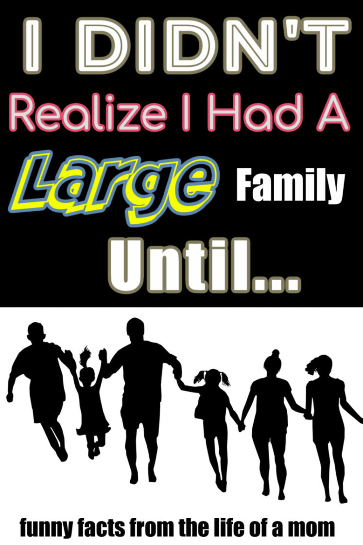 I Didn't Realize I Had A Large Family Till...