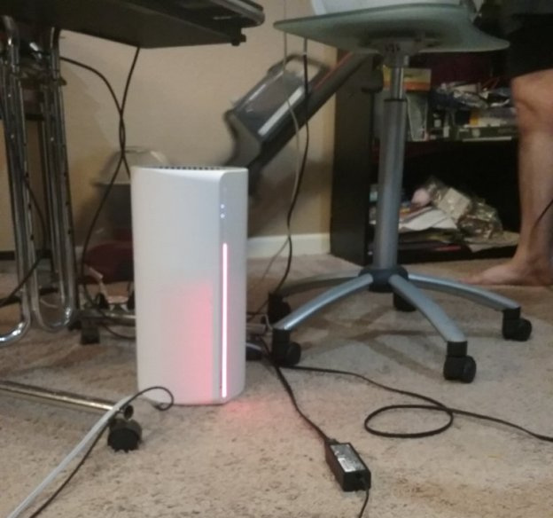 Sensibo pure air purifier light turns red