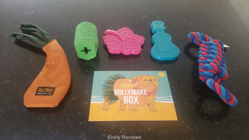 Bullymake Box, Dog Toys, Dog Treats, Dog Gifts, Dog Subscription Box, Emily Reviews