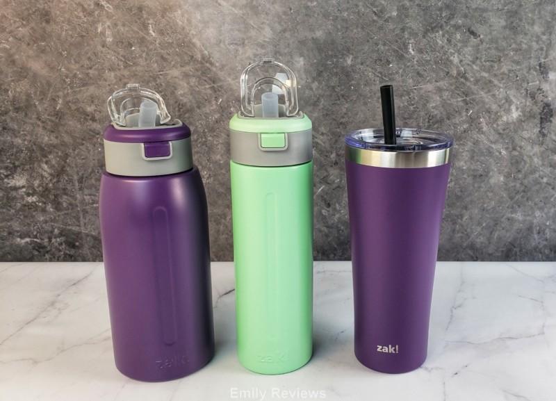 Zak! Designs, Stainless Steel Water Bottle, Reusable Water Bottle