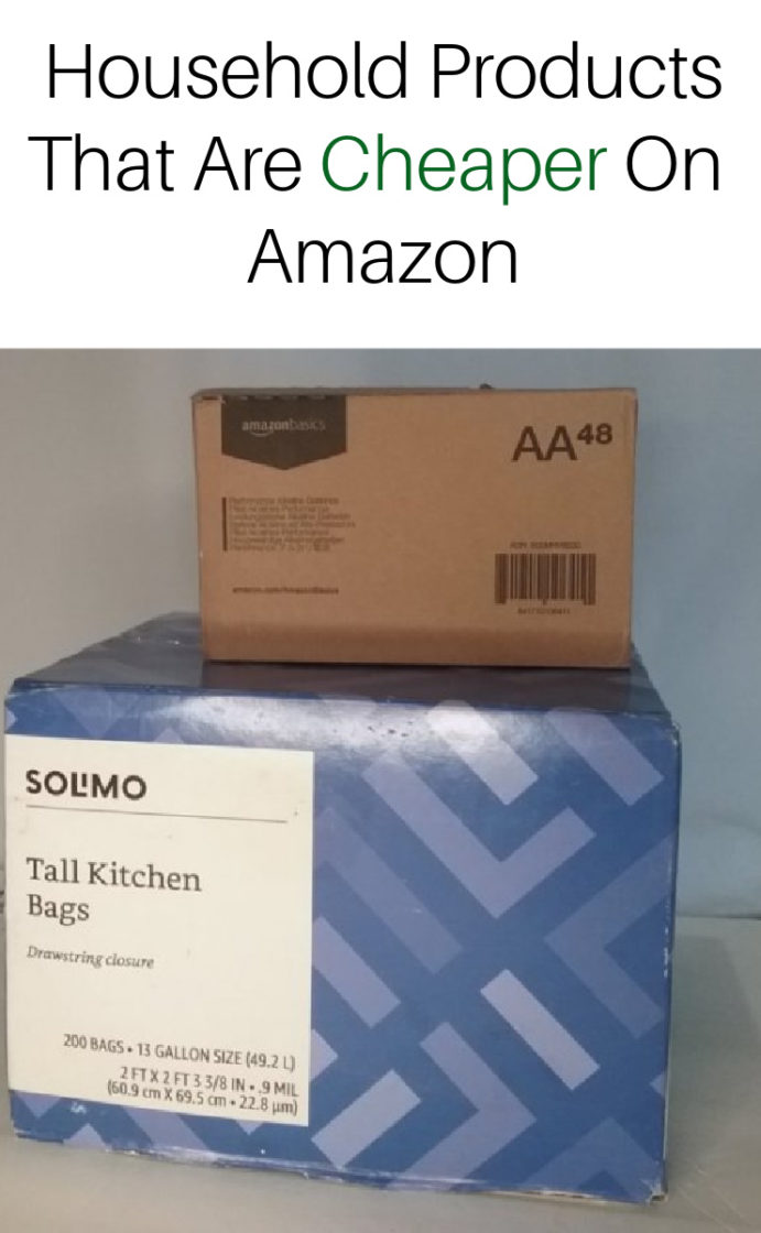 Household products that are cheaper on amazon